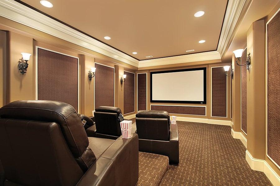 South Shore Basement Finishing - Home Theater